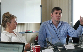 Speakers from left to right: Alison Bashford, USYD/Cambridge; Stefan Elbe, University of Sussex