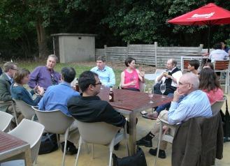 Pre-dinner gathering at the terrace of the Boilerhouse Harbourside Restaurant