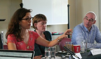 Speakers from left to right: Charlotte Epstein, CISS; Rebecca Adler-Nissen, University of Copenhagen; Roland Bleiker, University of Queensland