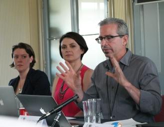 Panel speakers from left to right: Sarah Percy, University of Western Australia; Megan MacKenzie, CISS; David Schlosberg, CISS