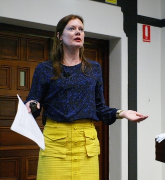 """Dr. Lene Hansen, Professor of International Relations, University of Copenhagen, delivers the 2014 Michael Hintze Lecture on her research project """"Images and International Security"""". Dr Hansen is Denmark's first female professor of international politics and recent recipient of Denmark's Elite Researcher Award."""