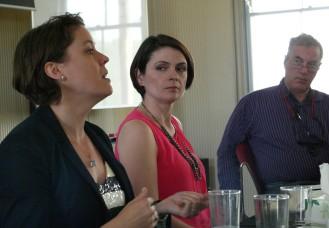 Speakers from left to right: Sarah Percy, University of Western Australia; Megan MacKenzie, CISS; Peter Hayes, Nautilus Institute/RMIT
