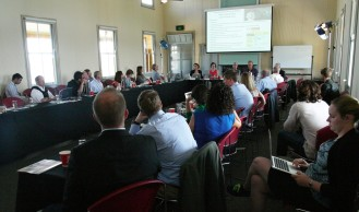 Conference room with all participants