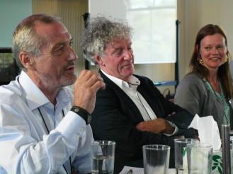 Speakers from left to right: Colin Wight, CISS; John Keane, USYD; Lene Hansen, University of Copenhagen