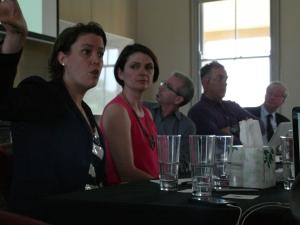 Sarah Percy discusses the maritime. (Photo: Jose Torrealba)