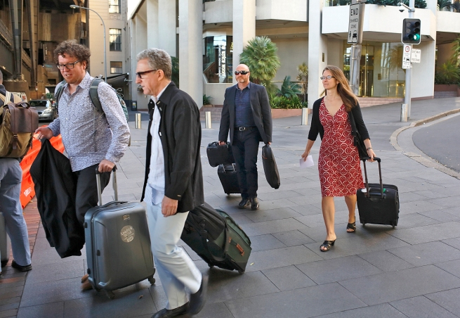 Q2 Symposium participants leaving the Intercontinental Sydney Hotel. Photo: Gilbert Bel-Bachir.