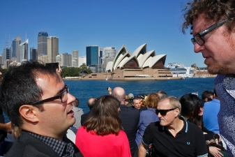View of the Sydney Opera House from the ferry. Photo: Gilbert Bel-Bachir.