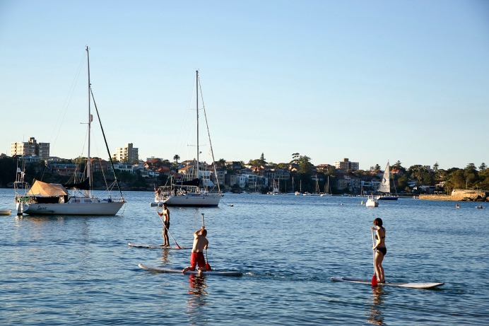 A scene with the Q2 professional paddle boarders. Photo: Gilbert Bel-Bachir.