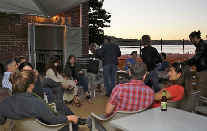 Q2 participants having a down time before dinner. Photo: Gilbert Bel-Bachir.