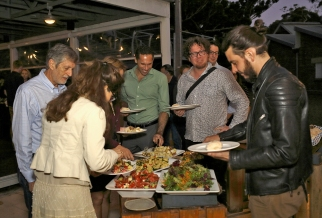 First BBQ dinner of the conference. Photo: Gilbert Bel-Bachir.