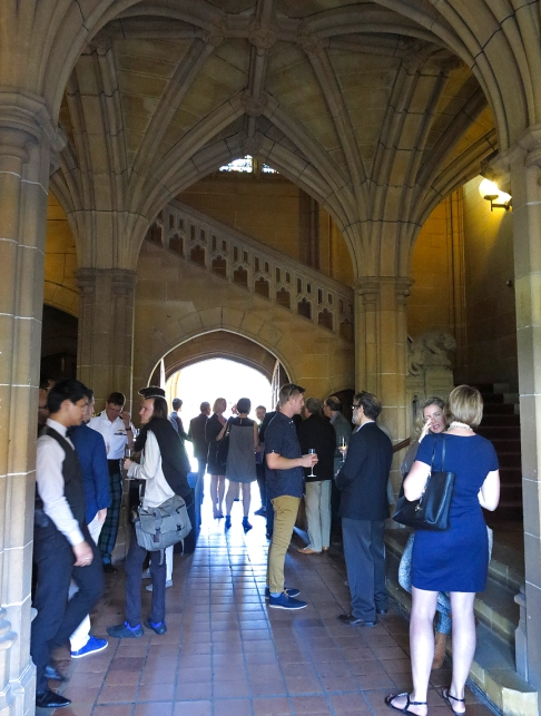 Q Lecture reception at the Nicholson Museum, University of Sydney Quadrangle. Photo: Gilbert Bel-Bachir.