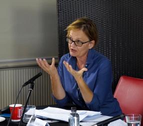 Glenda Sluga at The Space-Time of War and Diplomacy panel. Photo: Gilbert Bel-Bachir.