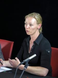 Andrea Loehr delivering her presentation, entitled