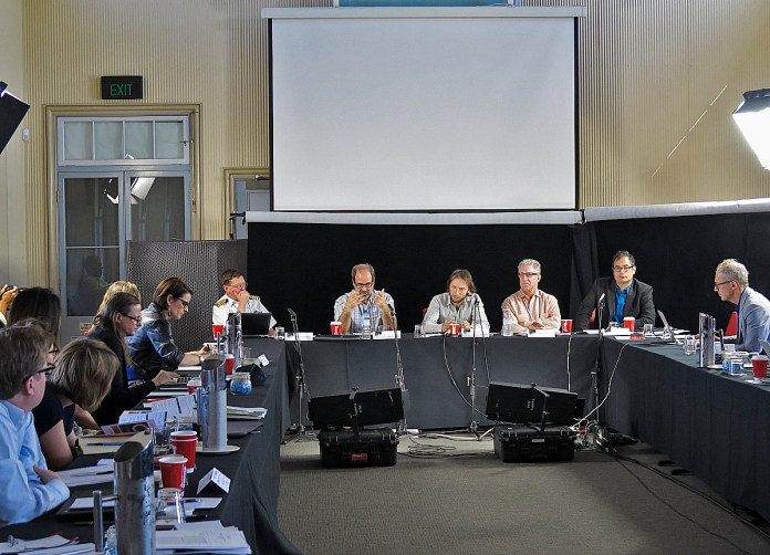 Members of the panel on Time: Historical, Representational and Relative. Photo: Gilbert Bel-Bachir.