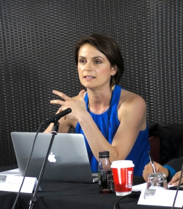 Discussant Megan Mckenzie shares her thoughts on the panel's presentations. (Photo: Gilbert Bel-Bachir)