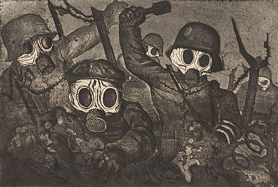 Otto Dix's Stormtroopers Advancing Under Gas, from his 1924 portfolio, War. (Photo: Wikipedia)