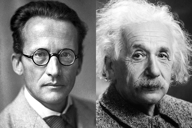 Einstein vs. Schrödinger: collaboration, competition and uncertainty