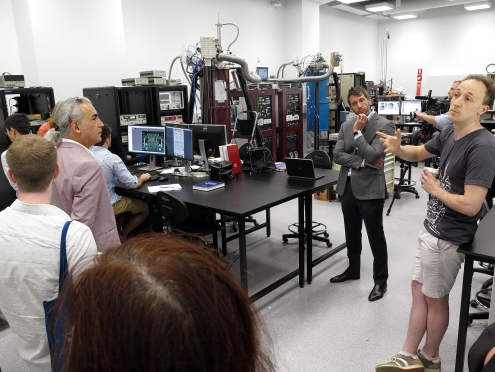 At the Sydney Nanoscience Hub Lab B. Photo: Gilbert Bel-Bachir.