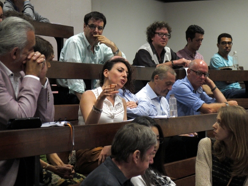 Federica Caso (UQ) at the Q&A. Photo: Gilbert Bel-Bachir.