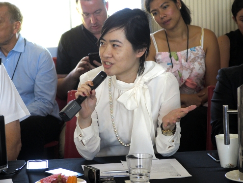 Nikita Chiu in the Q&A session. Photo: Gilbert Bel-Bachir.