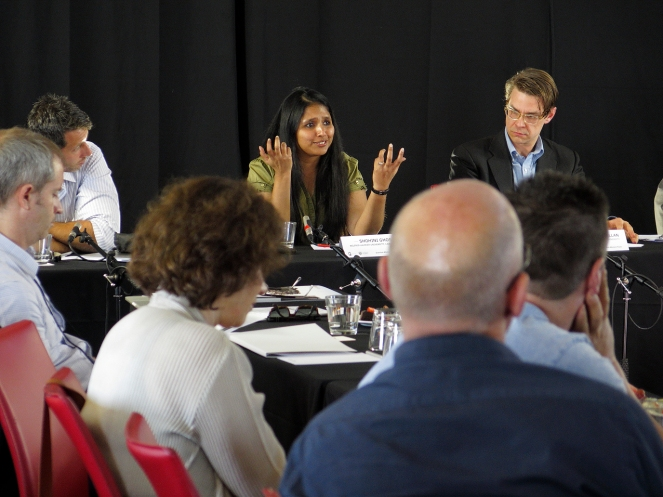 Shohini Ghose answering a question. Photo: Gilbert Bel-Bachir.