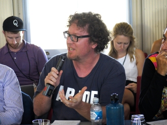 Sebastian Kaempf in the Q&A session. Photo: Gilbert Bel-Bachir.