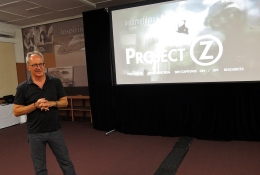 "After-screening Q&A session for ""Project Z: The Final Global Event"". Photo: Gilbert Bel-Bachir."