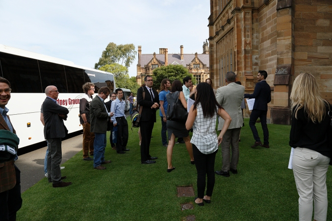 Q3 Symposium guests arriving at the University of Sydney Quadrangle Building. Photo: Gilbert Bel-Bachir.