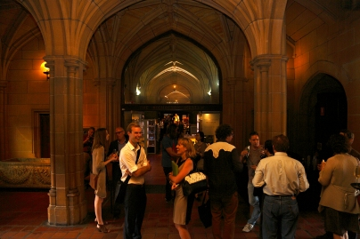 The Q Lecture reception at the Nicholson Museum, at The University of Sydney Quadrangle. Photo: Gilbert Bel-Bachir.